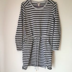 Merona long sleeve stripe T-shirt Dress Size S